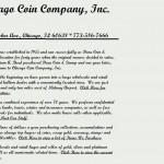Chicago Coin Company, Inc Chicago, IL