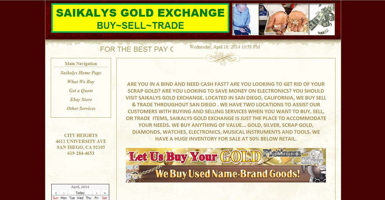 saikalys gold exchange san diego ca coinshops org