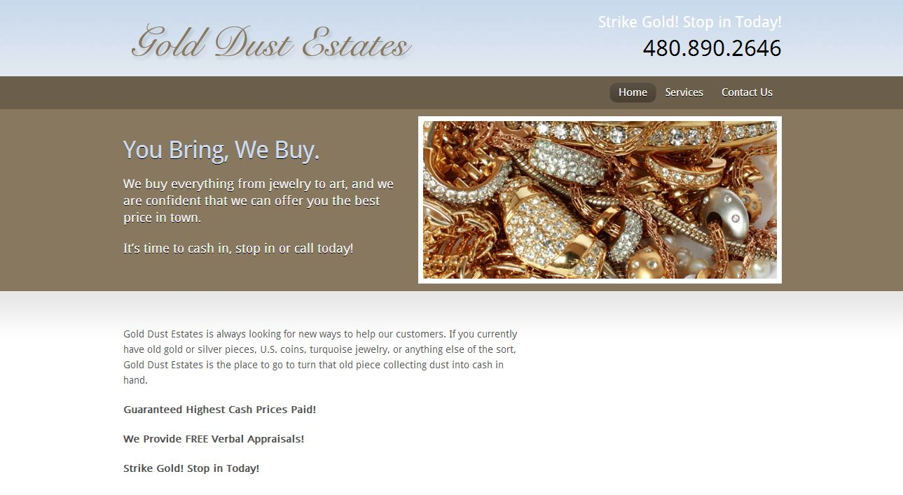 Gold dust estates mesa az for Jewelry stores mesa az
