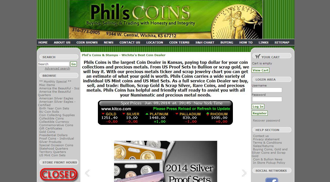 phils coins wichita ks