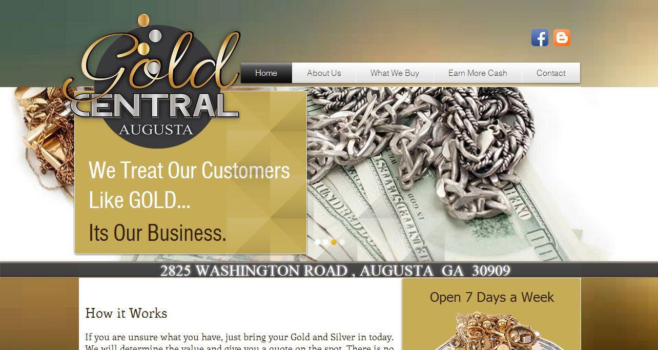 Gold central augusta ga for Jewelry stores augusta ga