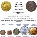 Jack H Beymer Rare Coins Santa Rosa, CA