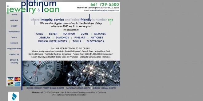 Platinum Jewelry & Loan Lancaster, CA   CoinShops.org