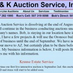 K & K Auction Service