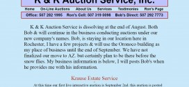 K & K Auction Service Rochester, MN