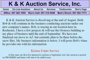 K & K Auction Service Rochester, MN